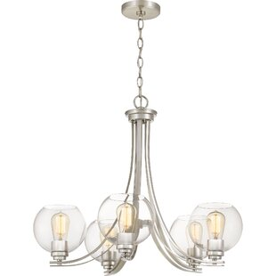 Breakwater Bay Waldon 5-Light Shaded Chandelier