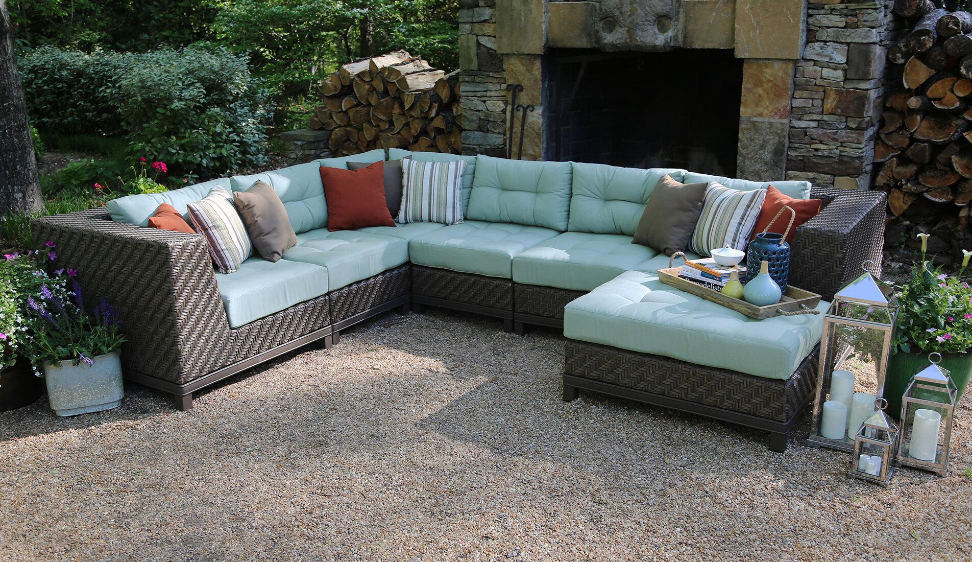 Mercury Row Bezanson 7 Piece Sectional With Cushions U0026 Reviews | Wayfair