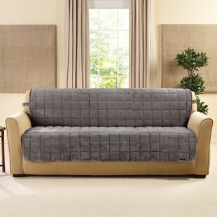 Deluxe Comfort Quilted Armless Box Cushion Sofa Slipcover