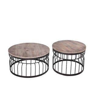 Williston Forge Gurdon Reclaimed Wood 2 Piece Coffee Table Set