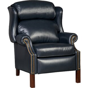 Chippendale Leather Manual Recliner Bradington-Young