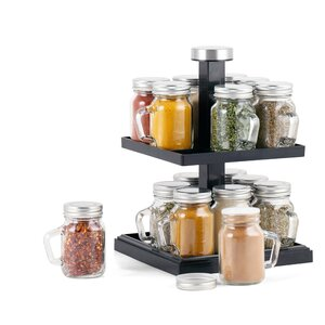 16 Jar Spice Jar & Rack Set