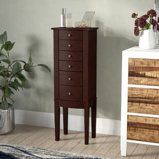 Read Reviews Kiara Jewelry Armoire with Mirror By Darby Home Co