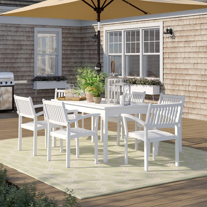 Sol 72 Outdoor Manchester 7 Piece Dining Set