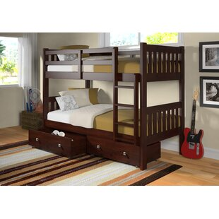Top Reviews Doe Twin over Twin Bunk Bed with Storage By Harriet Bee