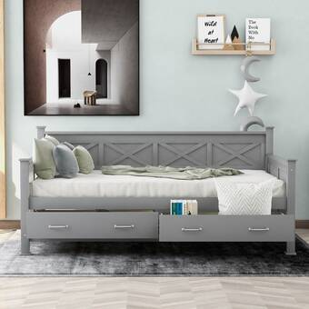 Red Barrel Studio Aleksandras Twin Solid Wood Daybed With Trundle Wayfair