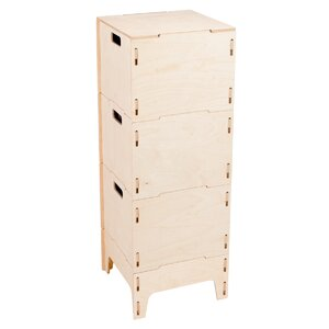 Caja Wooden Filing Cabinet