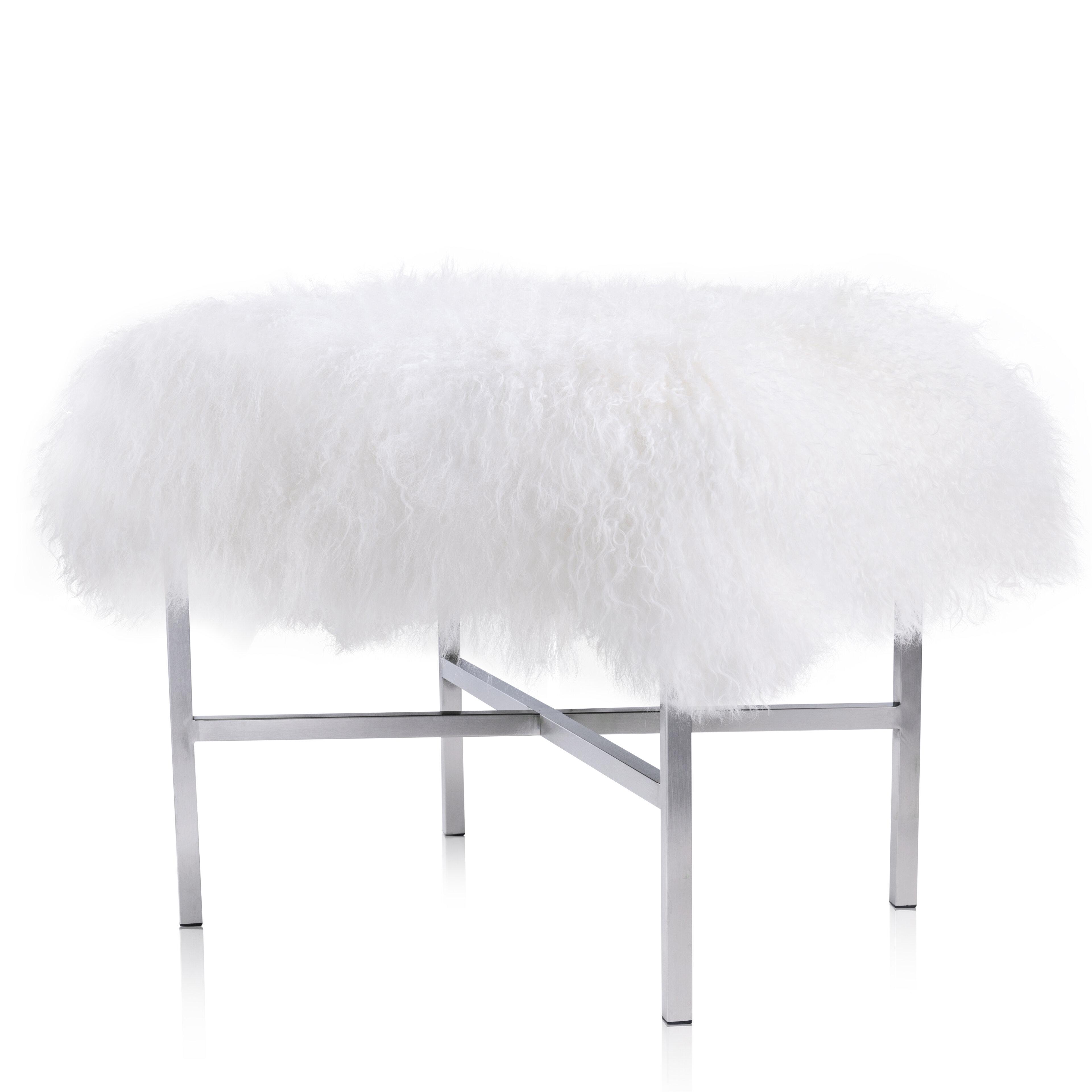 Admirable Mongolian Fur Ottoman Machost Co Dining Chair Design Ideas Machostcouk