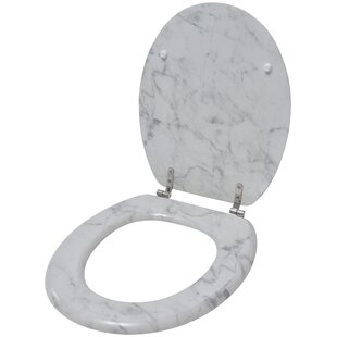 Evideco Marble Effect Elongated Toilet Seat