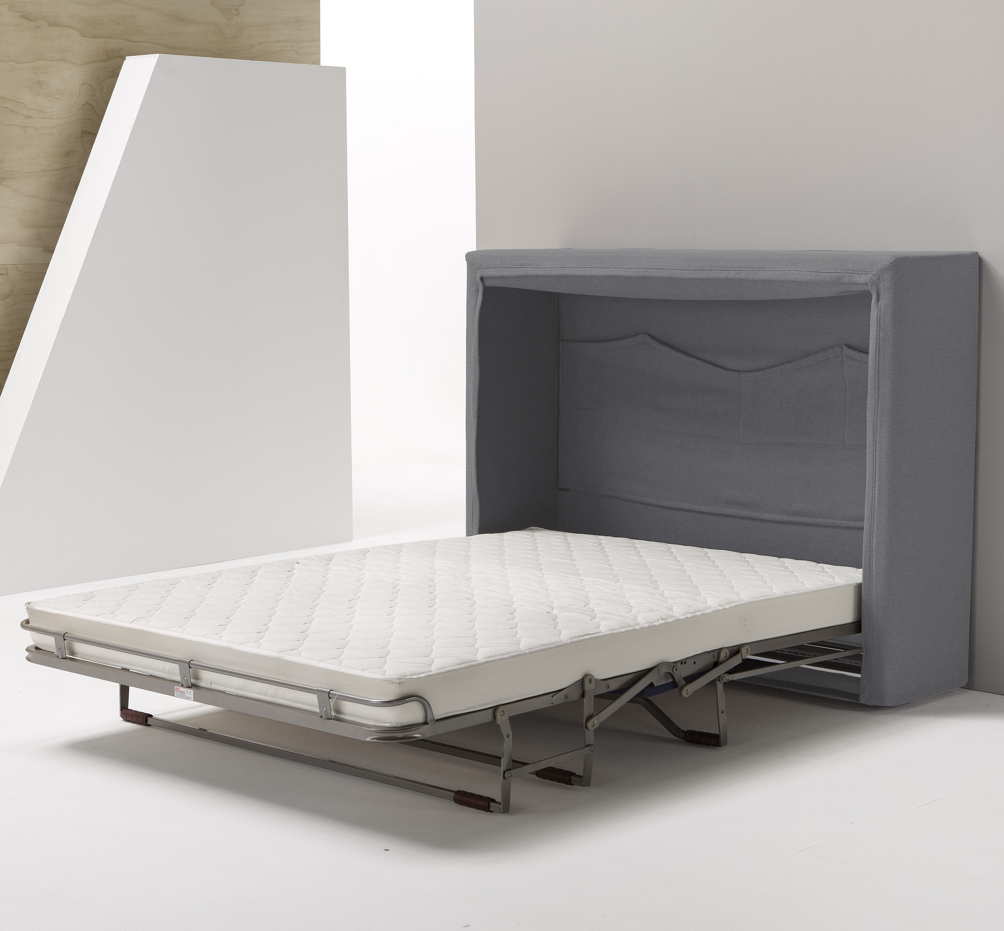 Murphy Bed.Wally Full Upholstered Murphy Bed With Mattress