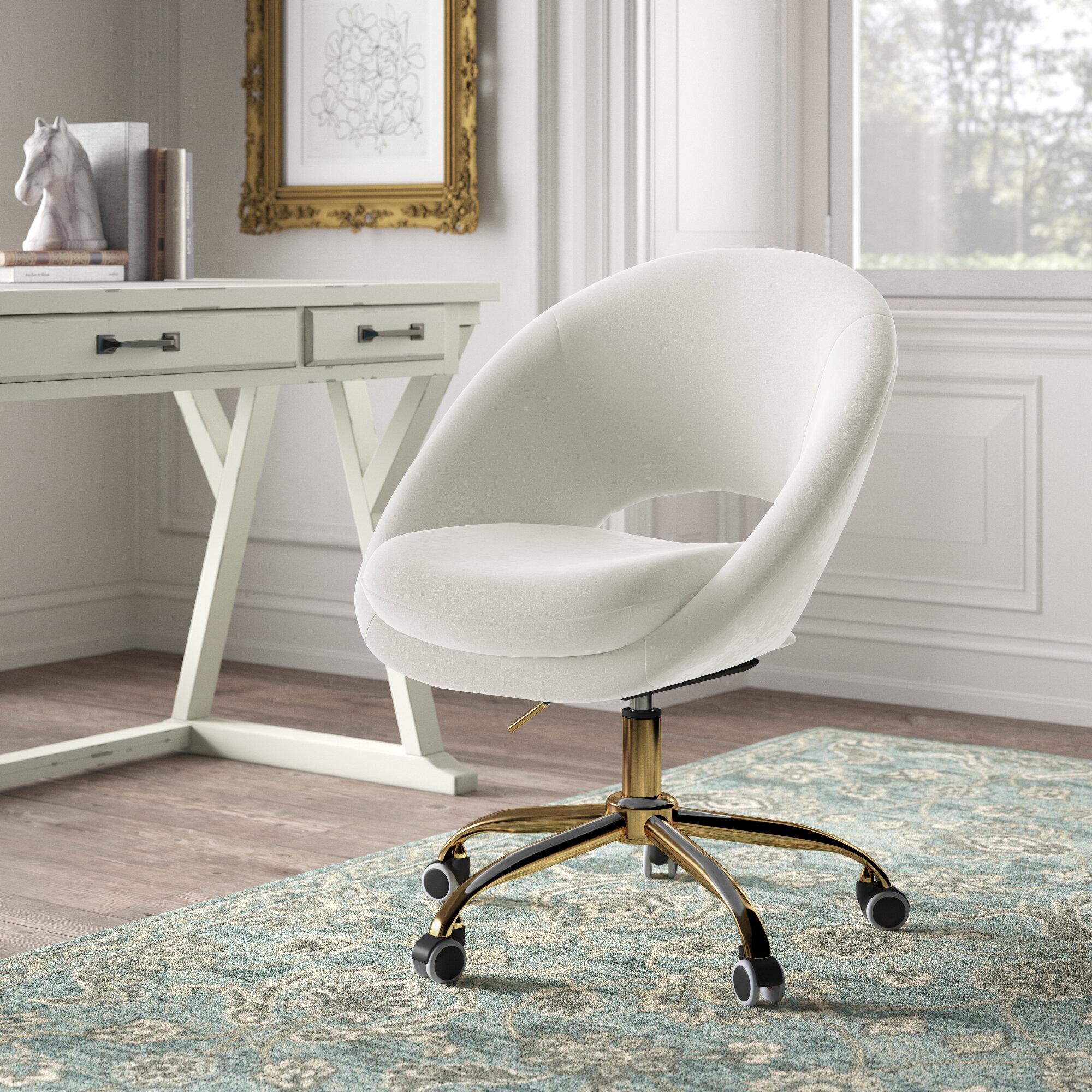 Kelly Clarkson Home Lourdes Velvet Task Chair Reviews