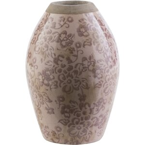 Evry Cylinder Taupe Ceramic Table Vase