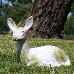 OrlandiStatuary Garden Décor Sitting Deer Fawn Statue