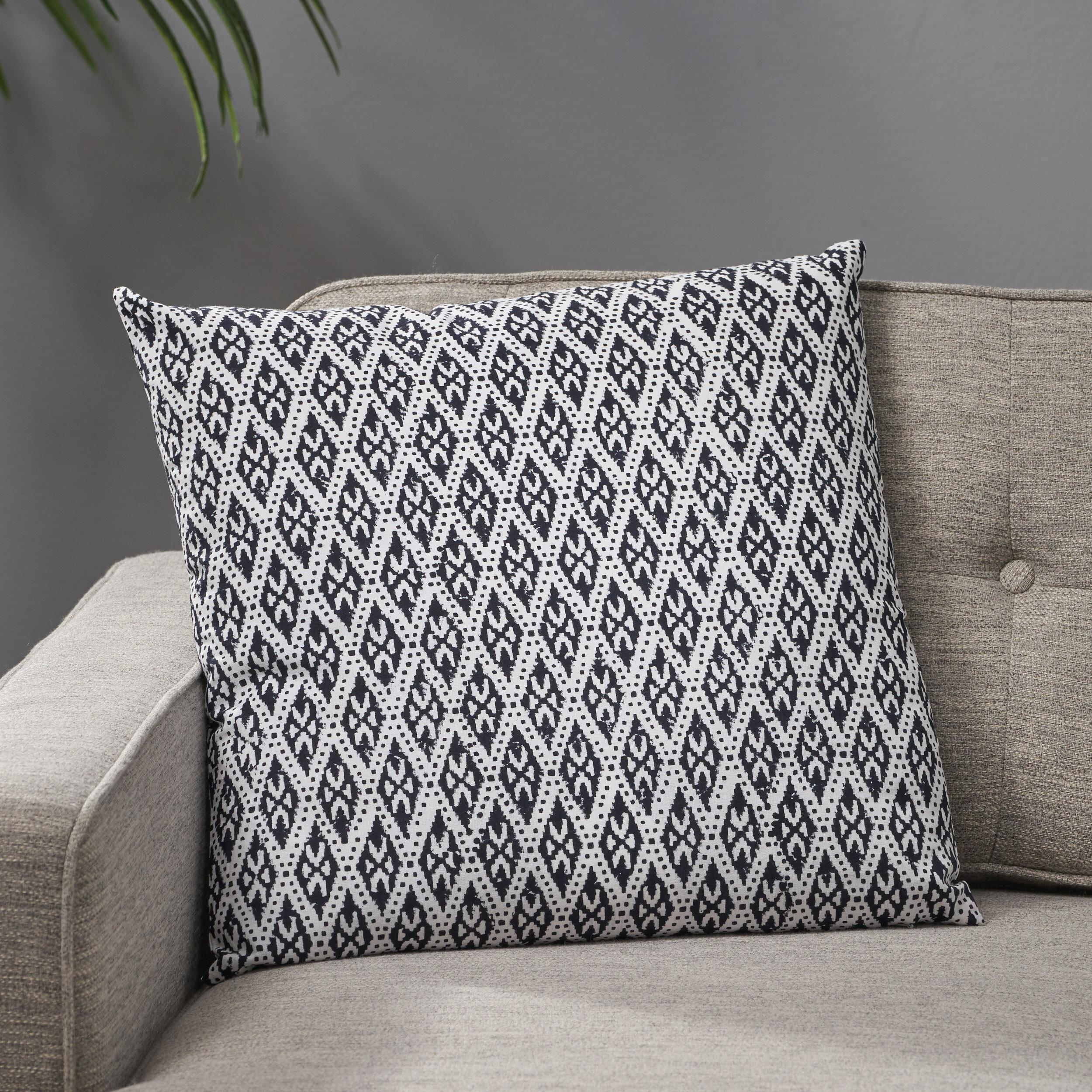Bungalow Rose Hoehne Cotton Geometric 18 Throw Pillow Wayfair