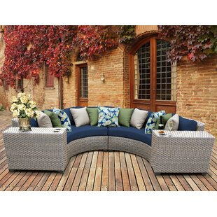 Meeks 4 Piece Sectional Seating Group with Cushions