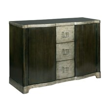 Shaped Front 3 Drawer Accent Cabinet by Hekman