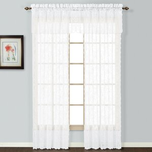 windsor rod pocket single curtain panel
