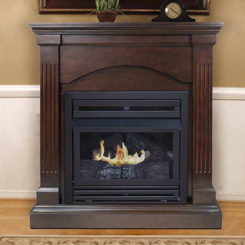 Pleasant Hearth Dual Fuel Vent Free Wall Mount Gas Fireplace
