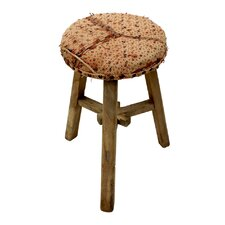 Vintage Yi Embroidered Accent Stool by Sarreid Ltd