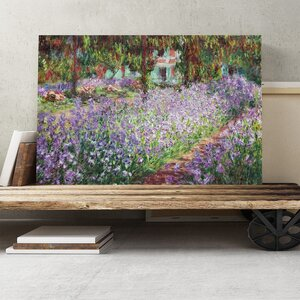 'Irises in Monet's Garden' by Claude Monet Painting Print on Canvas