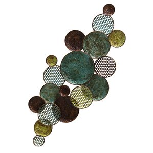Metal Circle Wall Decor metal circle wall art | wayfair
