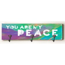 You are My Peace Solid Wood Wall Mounted Coat Rack by Zipcode Design