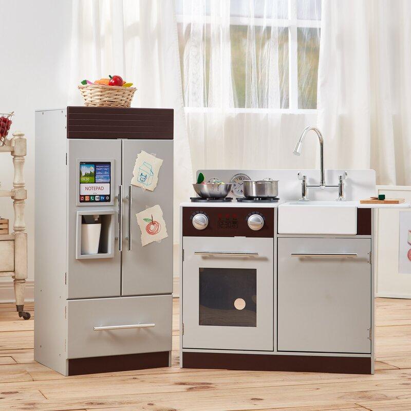 fantasy fields teamson kids urban luxury play kitchen set | wayfair
