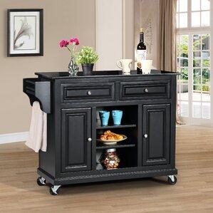 granite kitchen islands & carts you'll love   wayfair