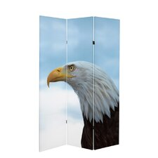 71 x 38.75 Tall Double Sided Spirit of America Canvas 3 Panel Room Divider by Oriental Furniture