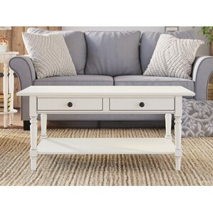 distressed finish coffee tables you'll love | wayfair