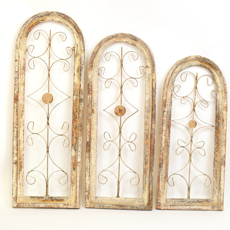 Wayfair Wall Decor myamigosimports gothic 3 piece round architectural window wall