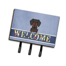 Dachshund Welcome Leash or Key Holder by Caroline's Treasures