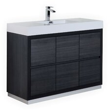 "Ouzts 48"" Single Free Standing Modern Bathroom Vanity Set"