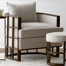 Santa Clara Barrel Chair and Ottoman by Stanley Furniture