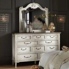 Arabella 10 Drawer Standard Dresser with Mirror by Hooker Furniture
