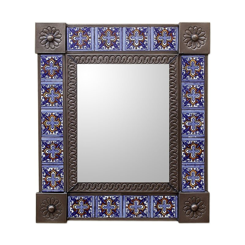 Wayfair Wall Mirrors novica medium tin and ceramic wall mirror | wayfair