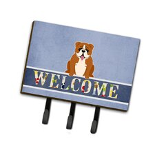 English Bulldog Welcome Leash or Key Holder by Caroline's Treasures