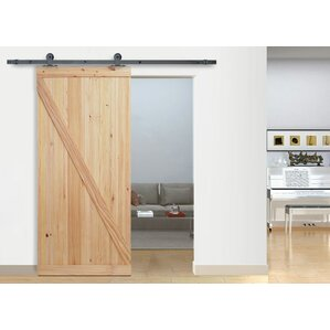 top mount wood interior barn door