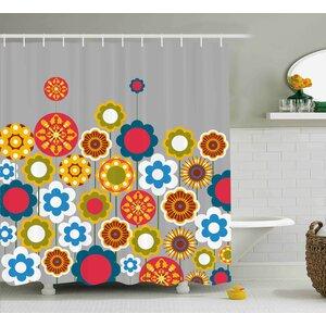 Faviola Modern Colorful Summer Shower Curtain Ebern Designs
