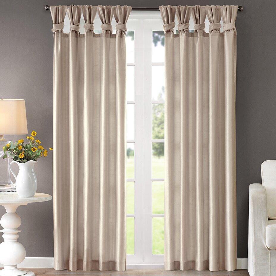 Lark Manor Rivau Solid Semi Sheer Tab Top Single Curtain