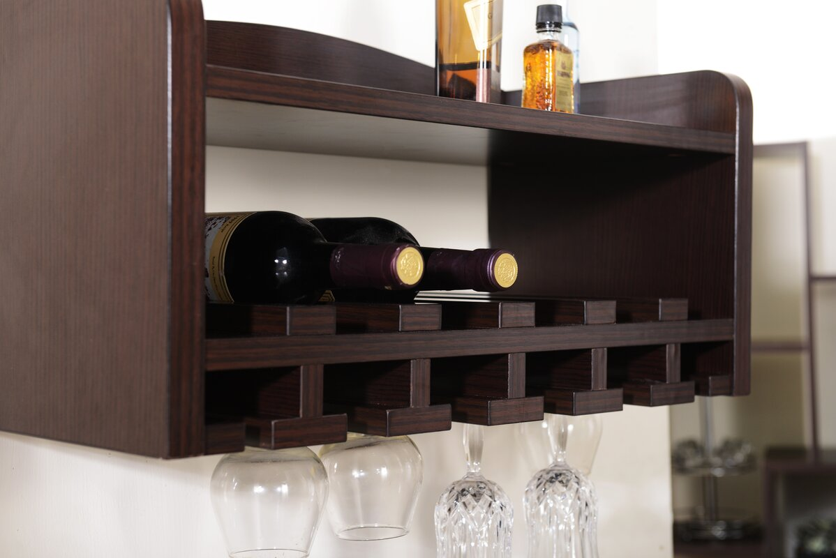 darby home co sullivan 6 bottle wall mounted wine rack revie