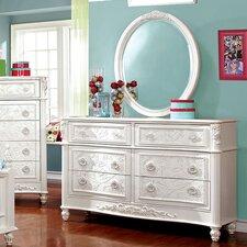 Henrietta 6 Drawer Dresser with Mirror by A&J Homes Studio
