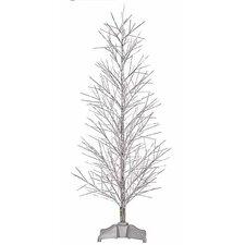 3' Silver Fiber Optic Christmas Twig Tree with Multi Light