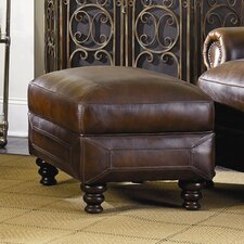 Goldhorn Leather Ottoman by Darby Home Co