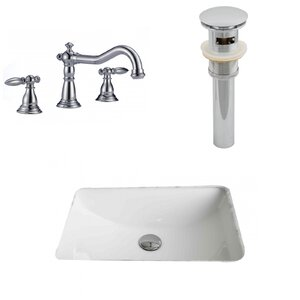 Rectangle Undermount Bathroom Sink with Overflow American Imaginations