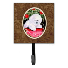 Christmas Tree with Bichon Frise Leash Holder and Key Hook by Caroline's Treasures