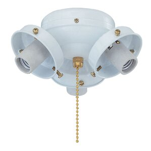 Captivating 3 Light Branched Ceiling Fan Light Kit