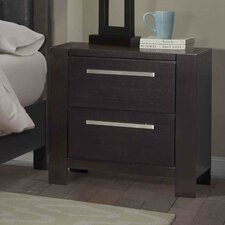 Theodor 2 Drawer Night Stand by Wade Logan