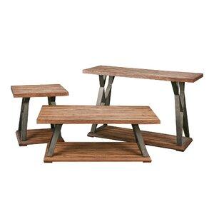 Chadwood X Base 3 Piece Coffee Table Set by Loon Peak