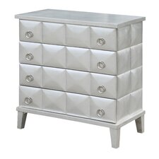 Murphy Pyramid Front Leaf 4 Drawer Accent Chest by Rosdorf Park
